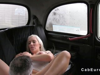 larger milk sacks bright-haired receives anal fucked in fake taxi
