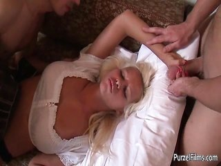 sexually weird drunk ight golden-haired is invited by two part3