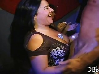 funny young lady gets her pussy