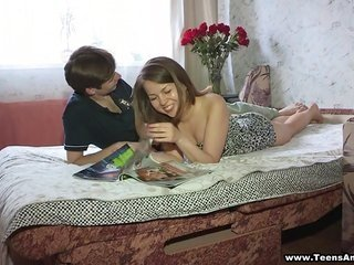 sensuous stud brought flowers as a result of this moll along with is thrilling her tight pussy
