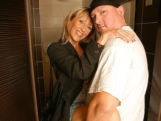appealing savory mistress is getting a fortunate shower and blows