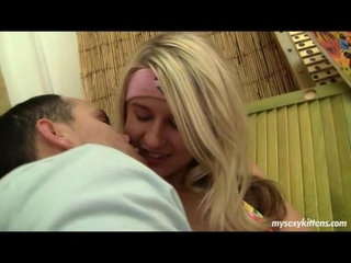 natural blonde stripling Lucy takes possession fucked