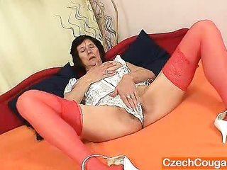 naked gilf influential corset