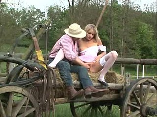 Farmgirl having anal getting laid in nature