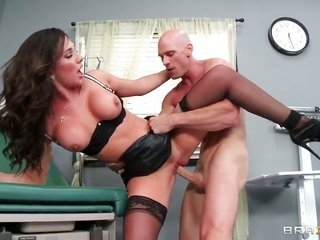 Johnny Sins whips out his cock to fuck ultra slinky Destiny Dixons slightly wet watch