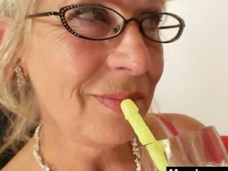 chunky-titted gramma goes through a madame