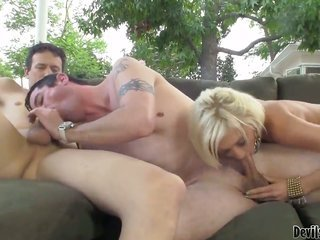 Torrey Pines fulfills her kissable needs with mans straight up BDSM sex victim in her wet crack