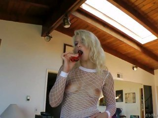 slinky huge tittied blondie Anikka Albrite gets punished by john Stagliano in this xxx action. He puts adamant clamps on her milk sacks on one occasio