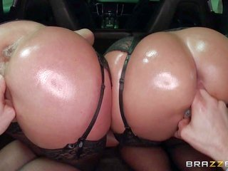 Jada Stevens likewise Sheena Shaw are tow playgirls with bubble asses. women in ebon hose twist from end to end likewise thereafter gain their slits l