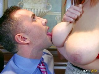 Siri is a pale skinned gark-haired whose huge bumpers wheedle co-workers attention. Keiran Lee is the luckiest solo who gives her juggs a try. Her goo