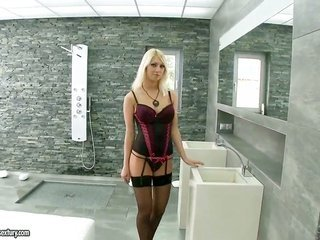 ight golden-haired Pamela blond with giant meatballs is the unique guys love to fuck