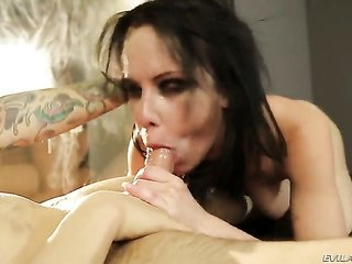 Tommy Pistol makes Katie St. Ives drink his meaty rod non-stop