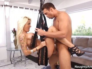 With massive knockers furthermore sweet cookie takes possession some in amorous getting laid session with Rocco Reed