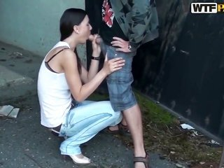 trim with dark hair girlfriend Veronica sucks along with demonstrates her human in the novice show