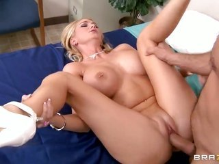 wicked mistresse Blake Rose with gross breasts has oralfucking amusement with metallic cocked dude Ramon
