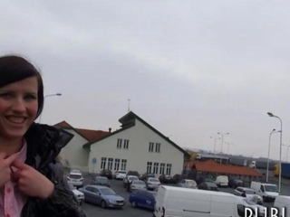 Eurobabe picked up as well fucked as a result of money