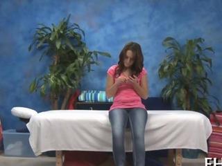 pretty 18 year old lady worships a massage