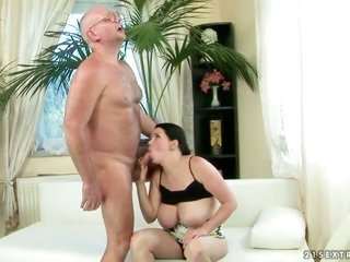 Laurea can not live a day not using protection getting drilled by mans vertical boner