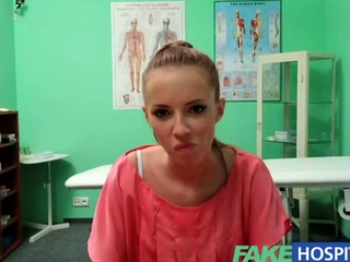 FakeHospital gorgeous brunette Patient returns desire the doctors excessive winkle
