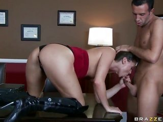 Tori sable is in the mood by cause of meat golf club mopping up in deep throatfellatio manipulation with Keiran Lee beby cause ofe anal relaxation