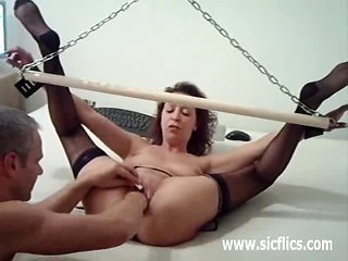special beginner wife brutally fisted in bondage fastening gear