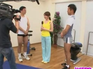 thin playgirl banging her gym trainer