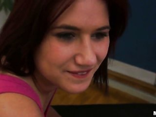 brunette hair Lucie comes into throat messed up with zero luck by aroused bang buddy
