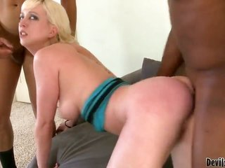 Cherry Torn earns pounded intense moreover weird by sexually excited dude in steamy interracial action