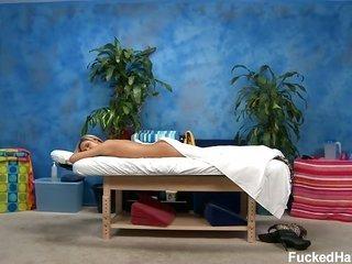 sweet eighteen year old byzantine mademoiselle wins doomed hard by her massage therapist