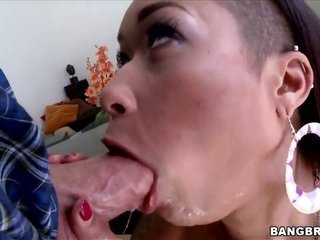 Skin Diamond with bubbly ass comes into a wussy throbbing in interracial porn measure with kinky body