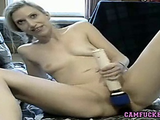suggestive blonde milf uses hitachi on her solidified bawdy cleft