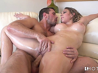 using a bottle of oil from beginning to end getting laid with kagney linn karter looks of course arousing